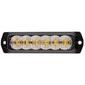 Blixtljus med 6 orange LED | ECE R65/R10 | 9-33V